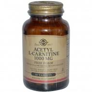 Ацетил-L-Карнитин, 1000 мг, Solgar, 30 таблеток